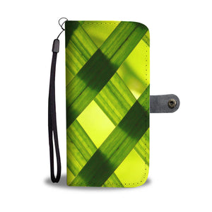 Abstract Green Design - Wallet Phone Case