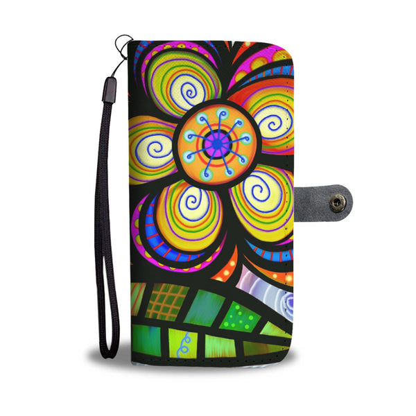 Abstract Flower Wallet Phone Case