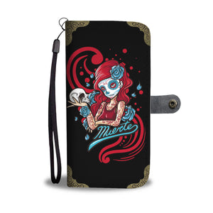 Day of Dead Girl Wallet Phone Case
