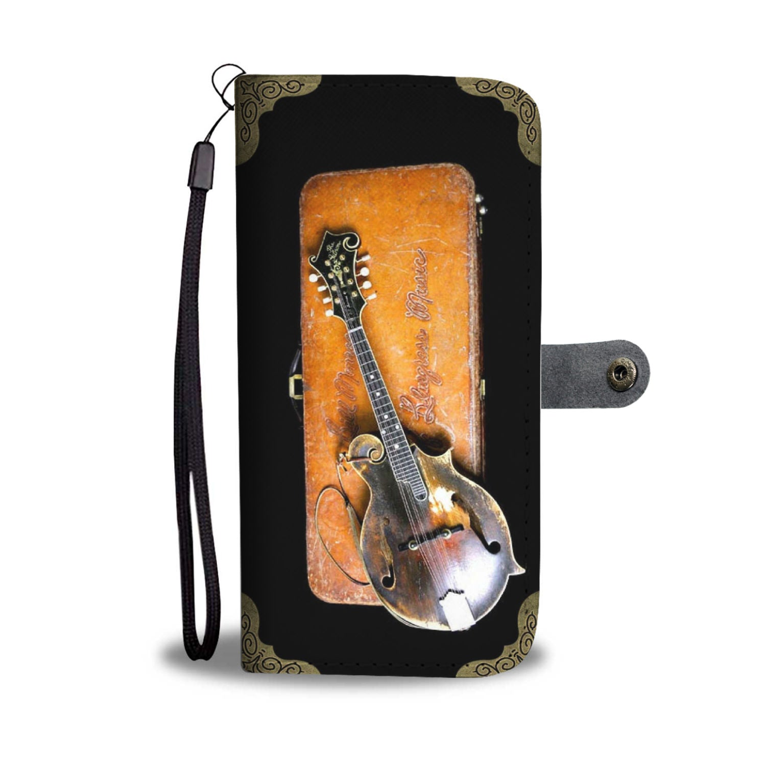 Bill Monroe Gibson Mandolin Wallet Phone Case