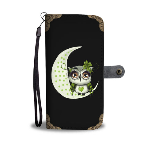 Cute Owl Design Wallet Phone Case