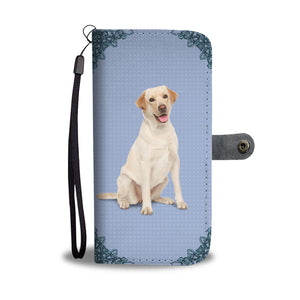 Cute Yellow Labrador Wallet Phone Case