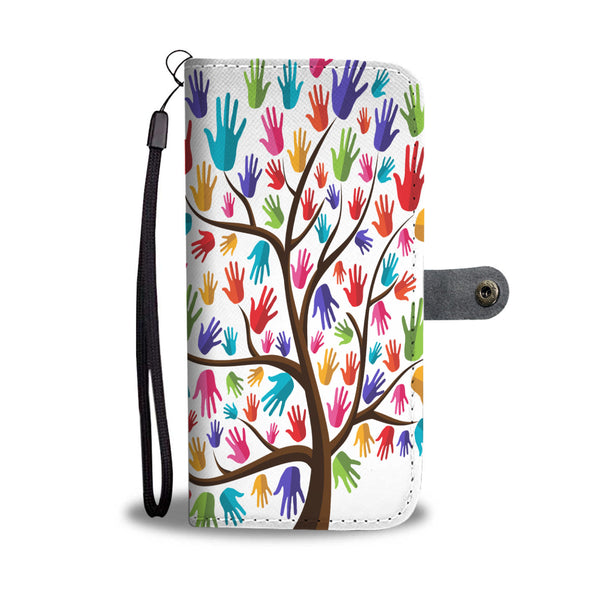 Hand Painted Tree Wallet Phone Case