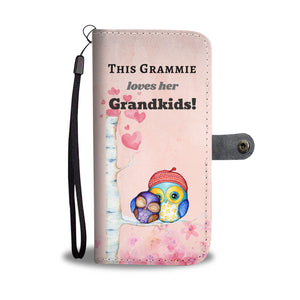 Cute Grandma Owl Wallet Phone Case