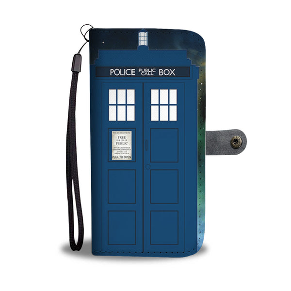Police Phone Booth Wallet Phone Case