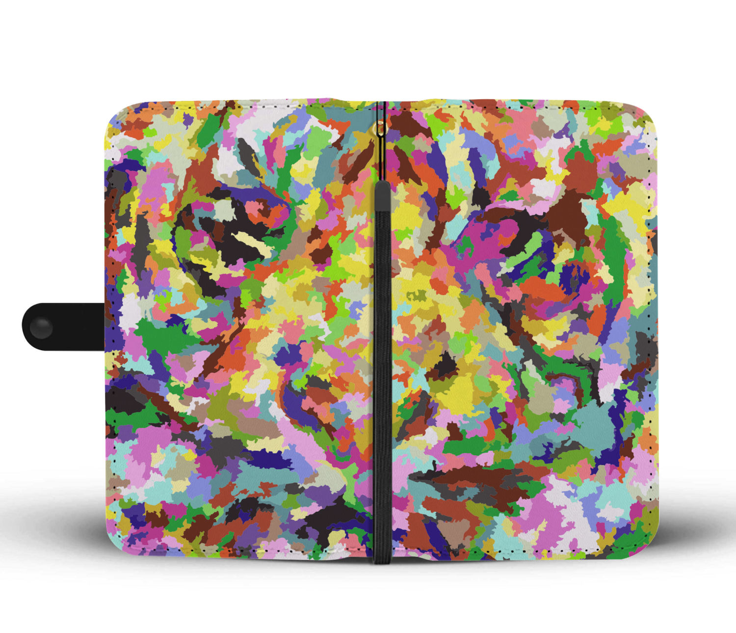 Colorful Tiger Wallet Phone Case