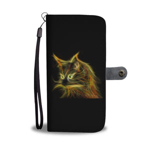 Cat Light Wallet Phone Case