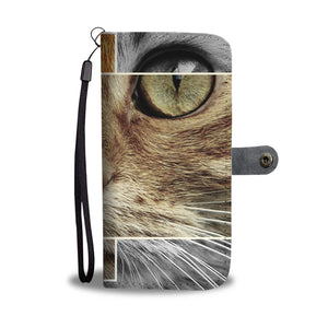 Cute Cat Portrait Wallet Phone Case