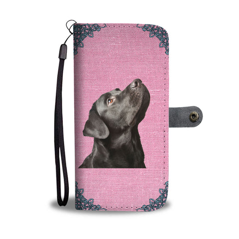 Black Labrador Wallet Phone Case