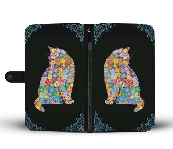 Colorful Cat Wallet Phone Case