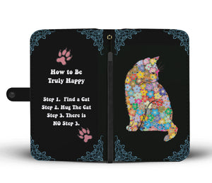 Cat Mom Quote Wallet Phone Case