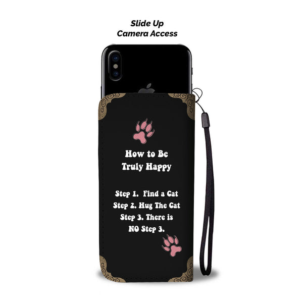 Cute Cat Quote Wallet Phone Case