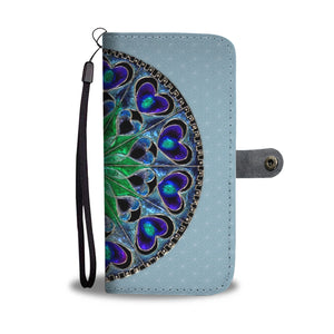 Mandala Glass Design Wallet Phone Case