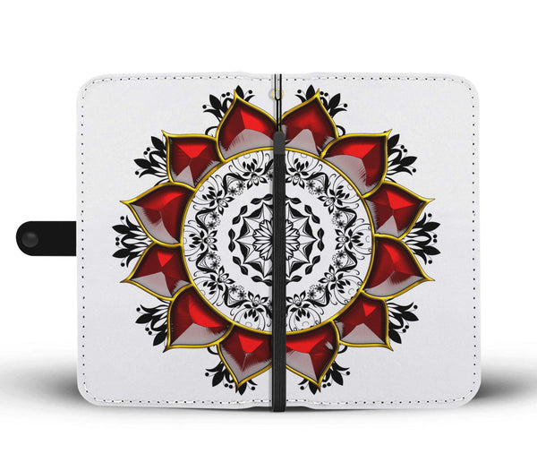 Lotus Flower Mandala Wallet Phone Case