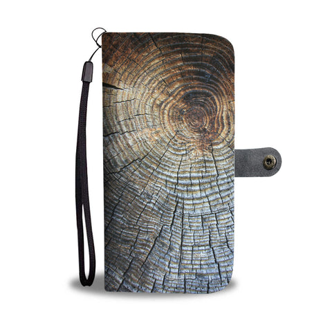 Wood Grain Wallet Phone Case