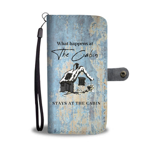 Cabin Design Wallet Phone Case