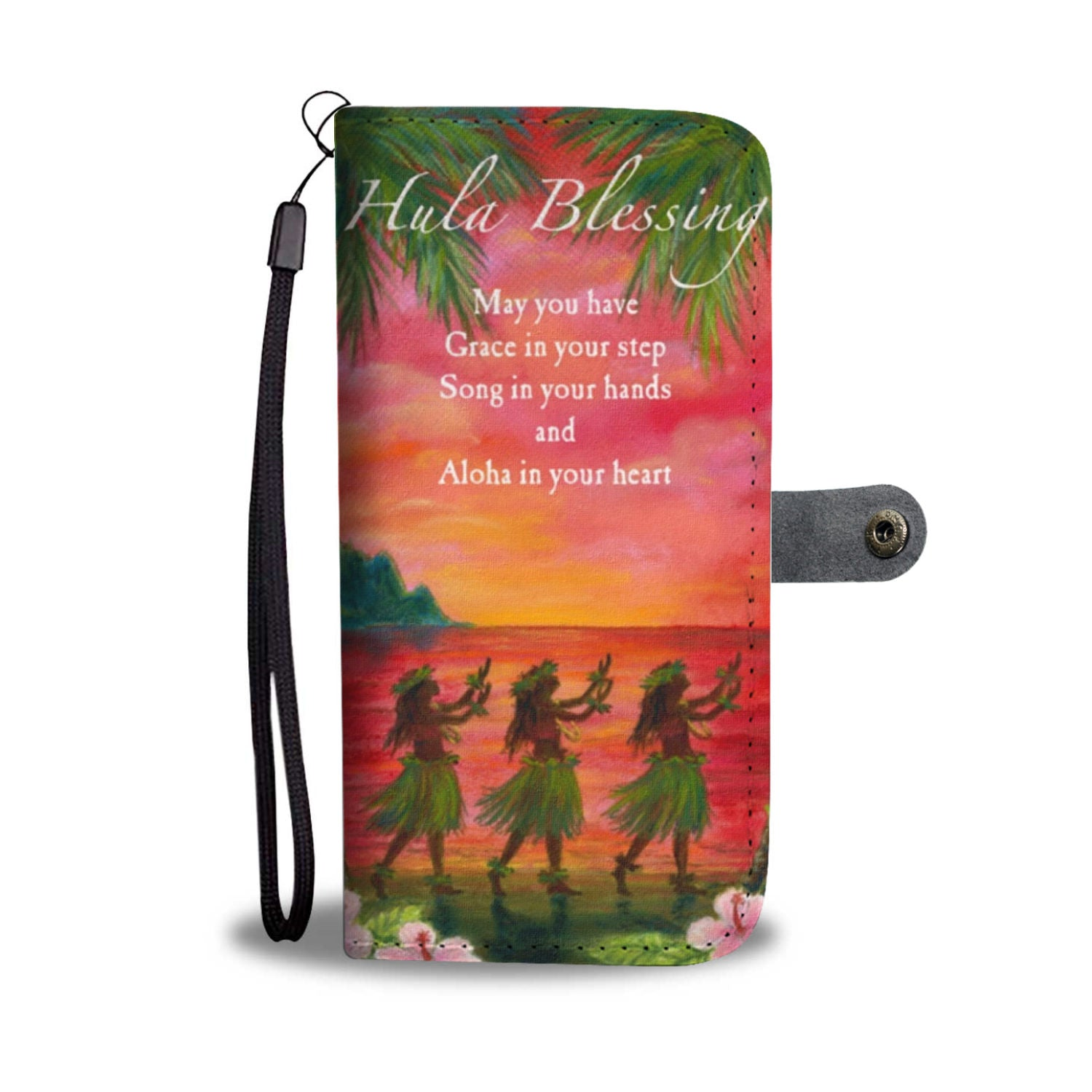 Hula Blessing Hawaii Wallet Phone Case