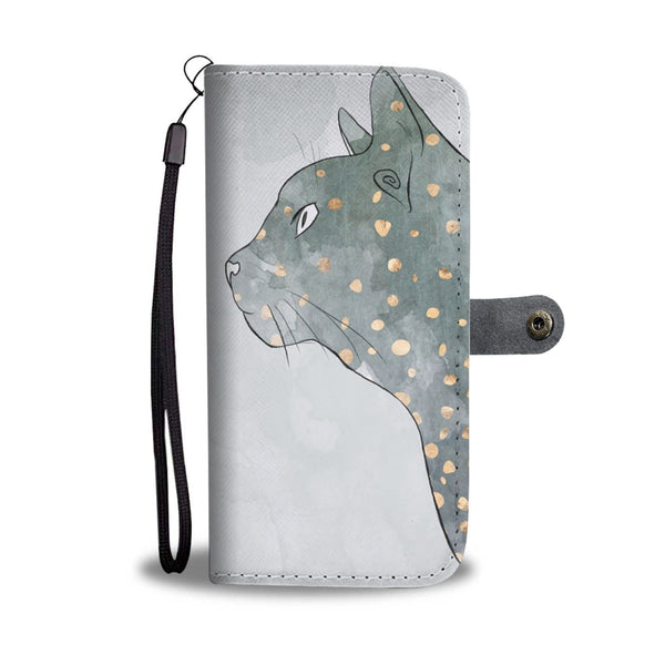 Cat and a Girl Wallet Phone Case