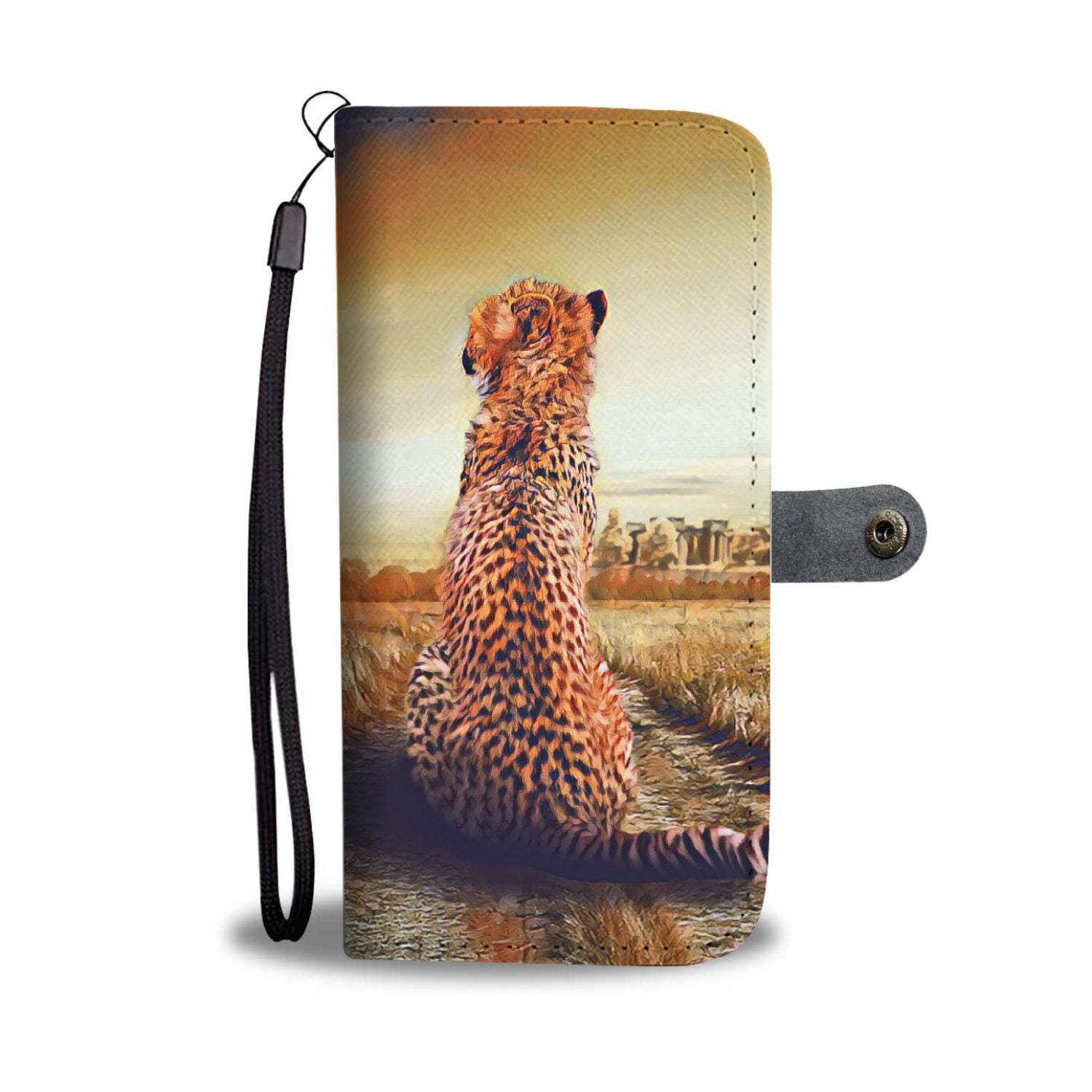 Cheetah Wallet Phone Case