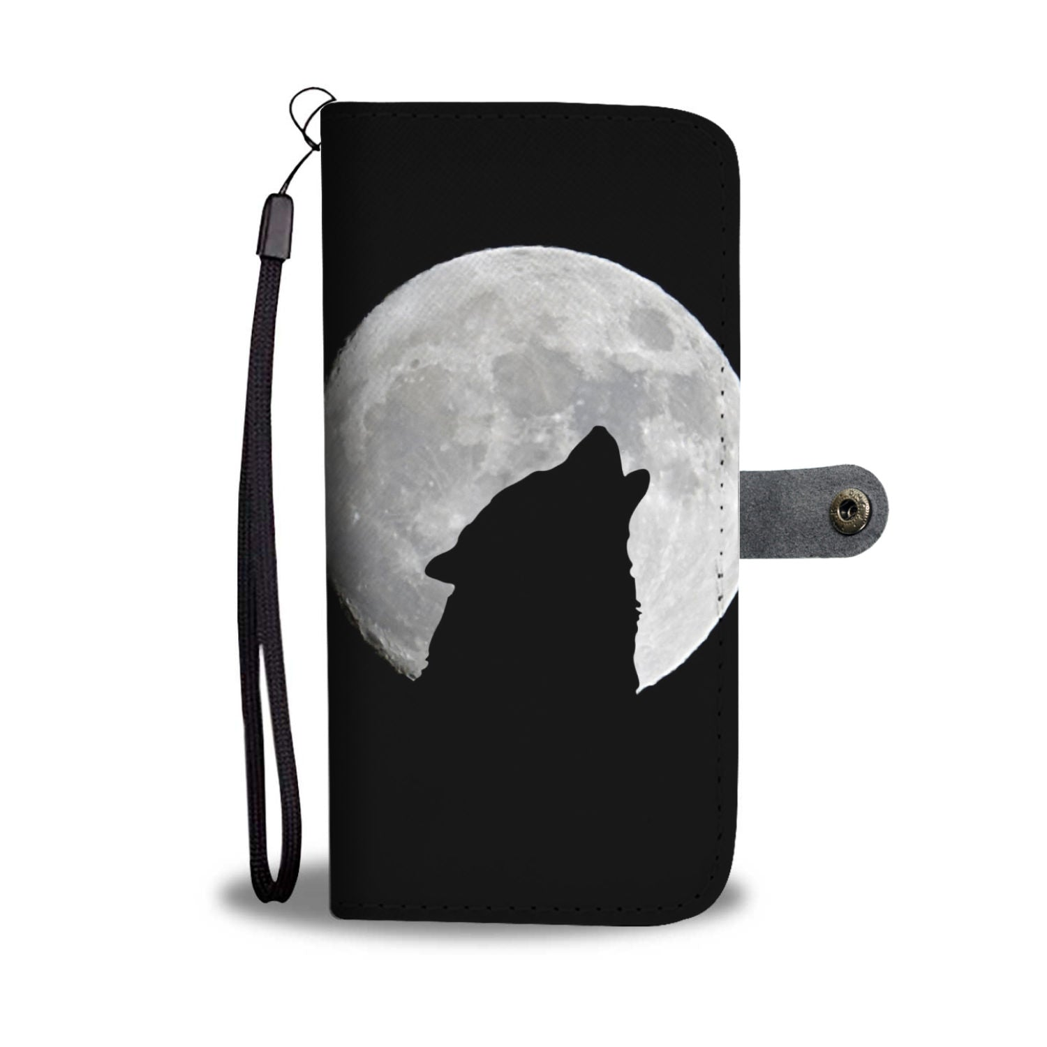 Howling wolf Wallet Phone Case