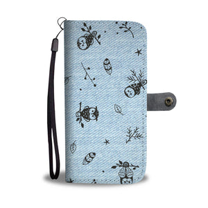 Jeans Owl Wallet Phone Case