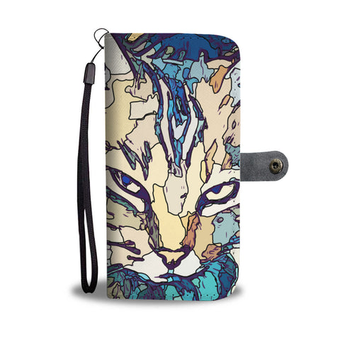Painted Cat Wallet Phone Case