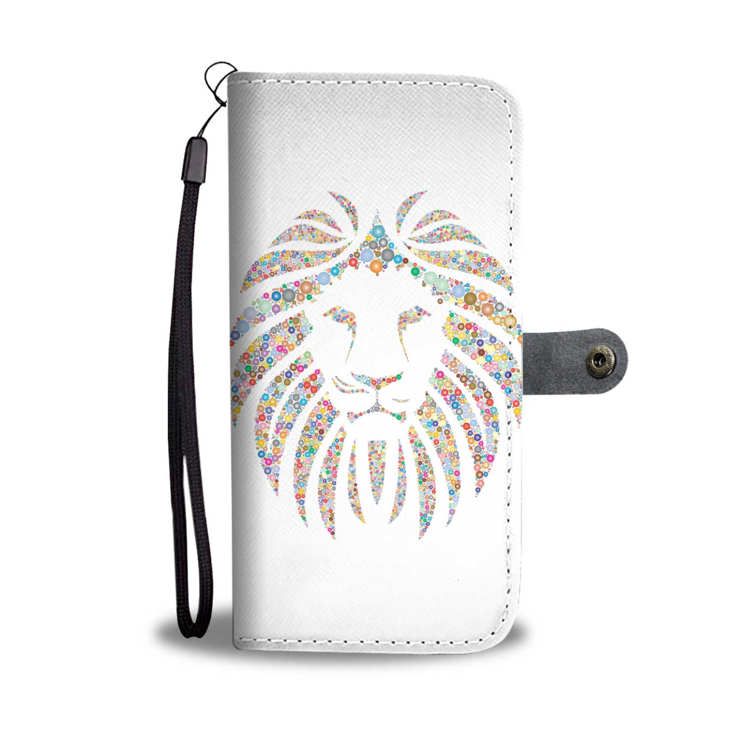 Colorful Lion Wallet Phone case