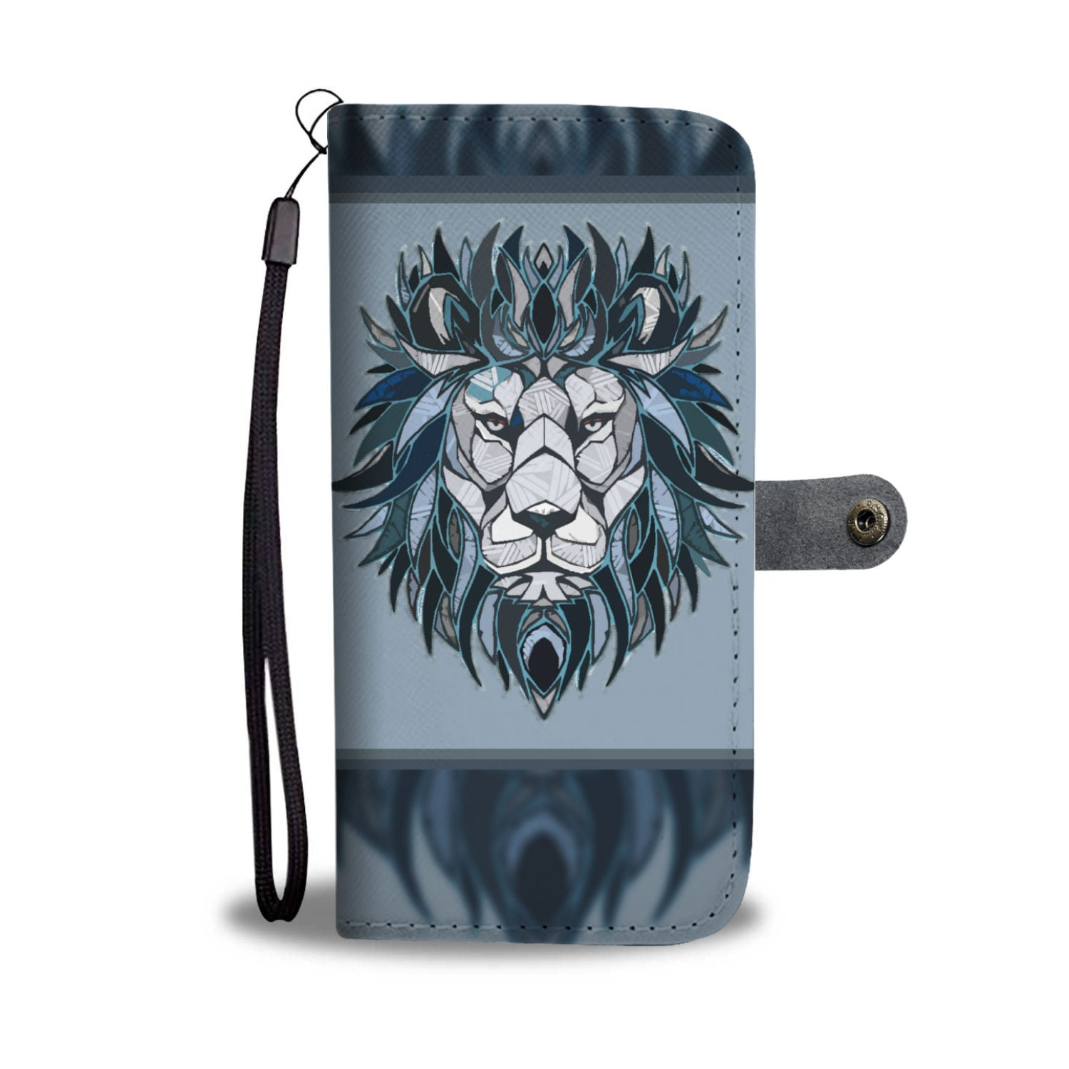 Cool Blue Lion Phone Wallet Case