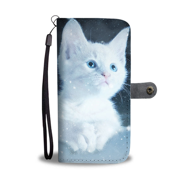 Cute Snow Kitty Wallet Phone Case