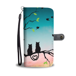 Cats On The Tree Wallet Phone Case