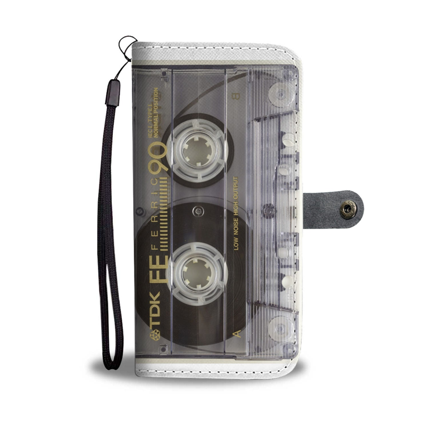 Cassette Tape Design Wallet Phone Case