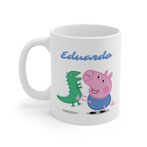 Personalized George Pig White Ceramic Mug