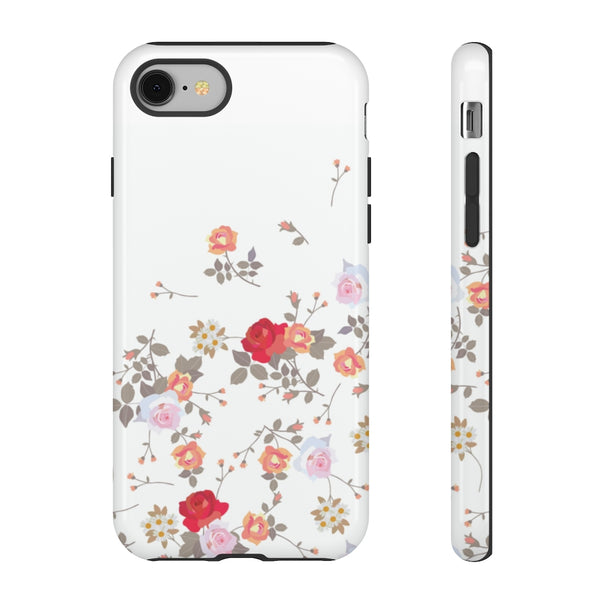 Flowers Pattern Tough Phone Case for iPhone and Galaxy