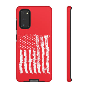 USA Flag Red Tough Phone Case for iPhone and Galaxy