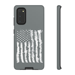 USA Flag Gray Tough Phone Case for iPhone and Galaxy