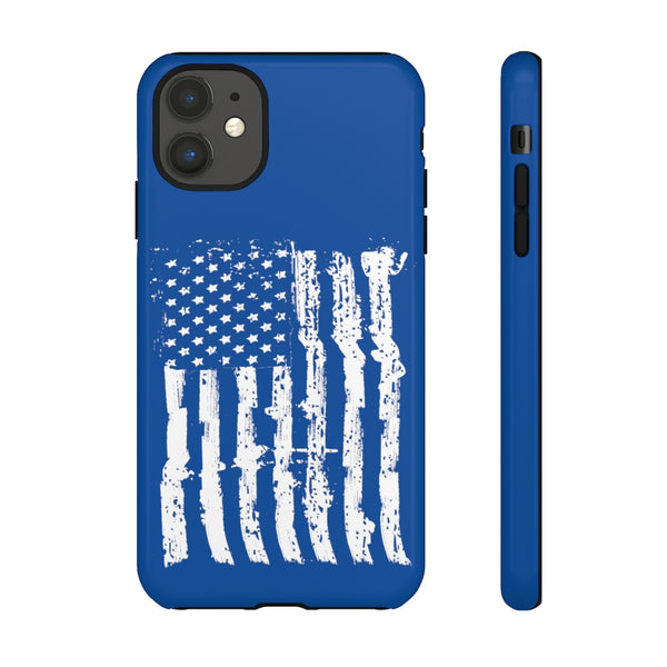 USA Flag Blue Tough Phone Case for iPhone and Galaxy