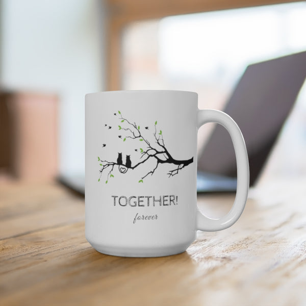 Together Forever Cat Mug Anniversary Gift