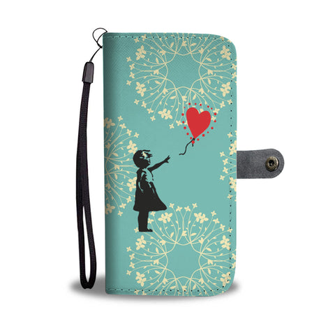 Banksy Inspired Red Balloon Wallet Phone Case