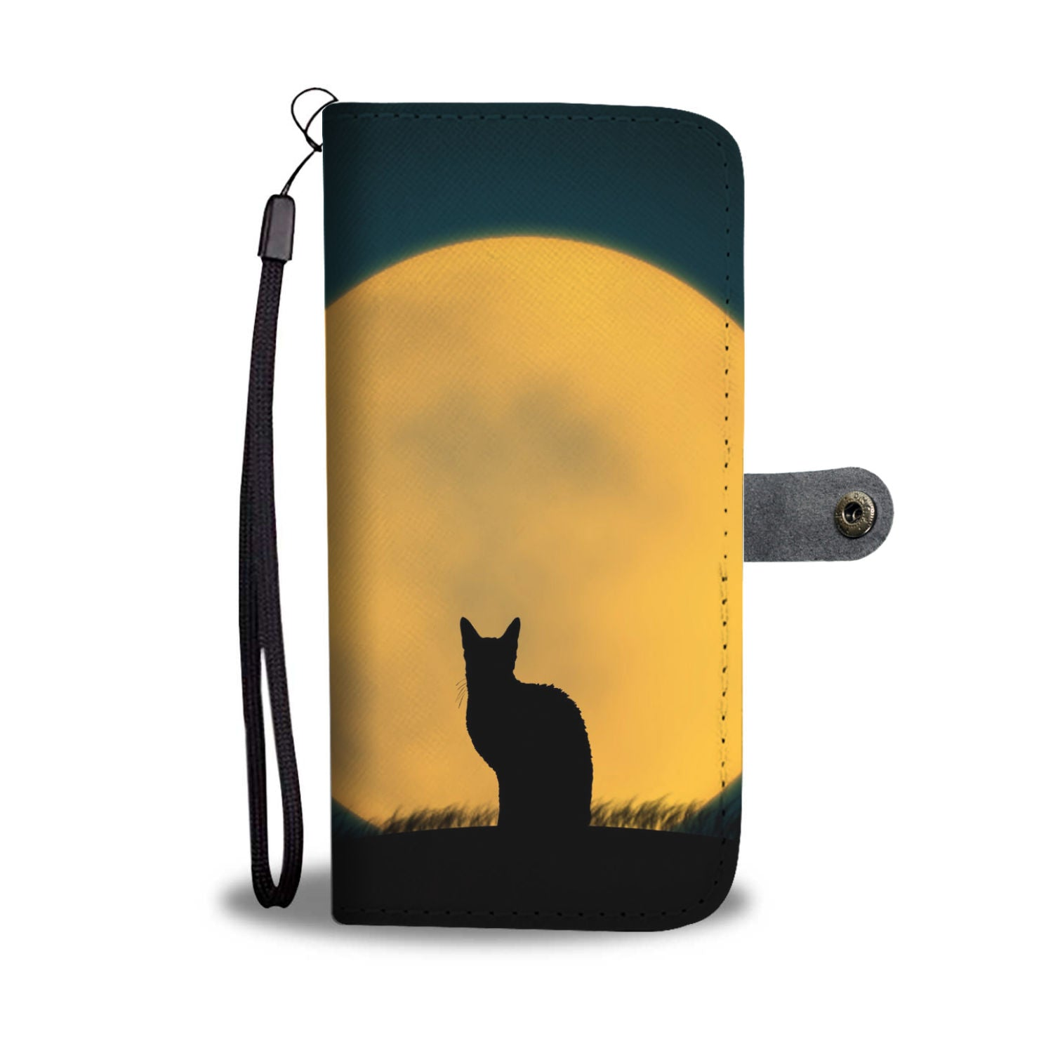 Cat and the Moon Wallet Phone Case