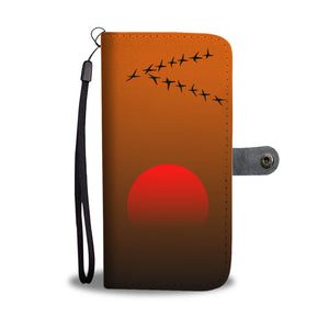 Birds at the Sunset Wallet Phone Case