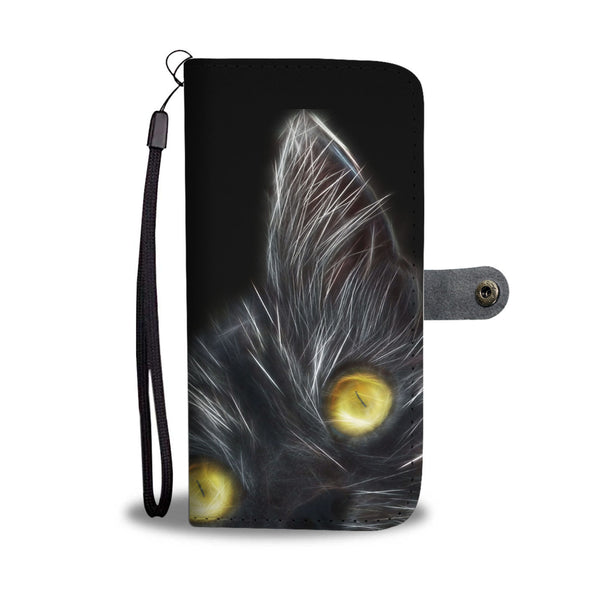 Black Cat Wallet Phone Case