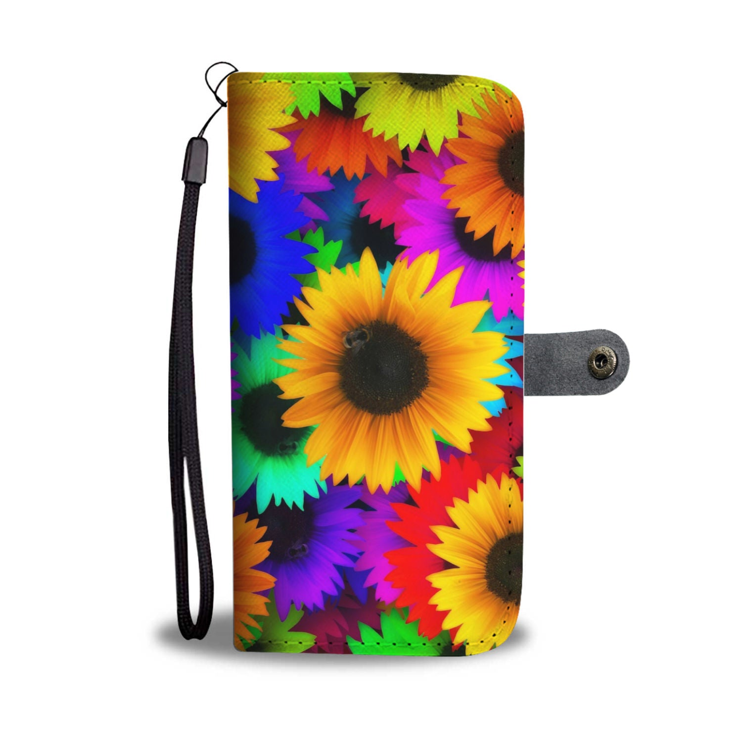Colorful Sunflowers Wallet Phone Case