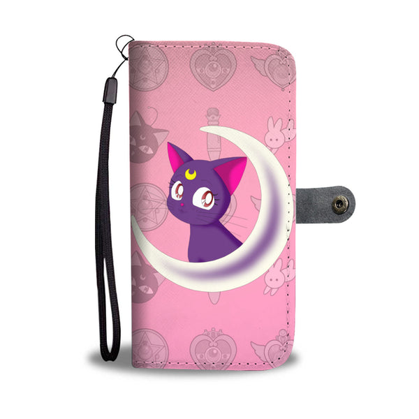 Luna Sailor Moon Cat Wallet Phone Case