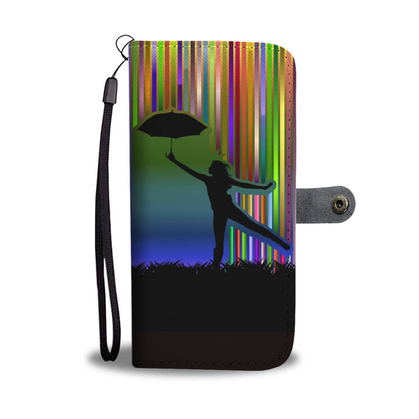 Dancing in the Rain Wallet Phone Case