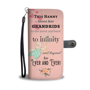 This Nanny Loves her Grandkids Wallet Phone Case