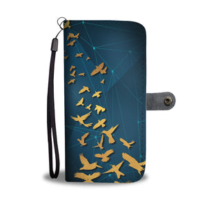 Cool Birds Blue Wallet Phone Case