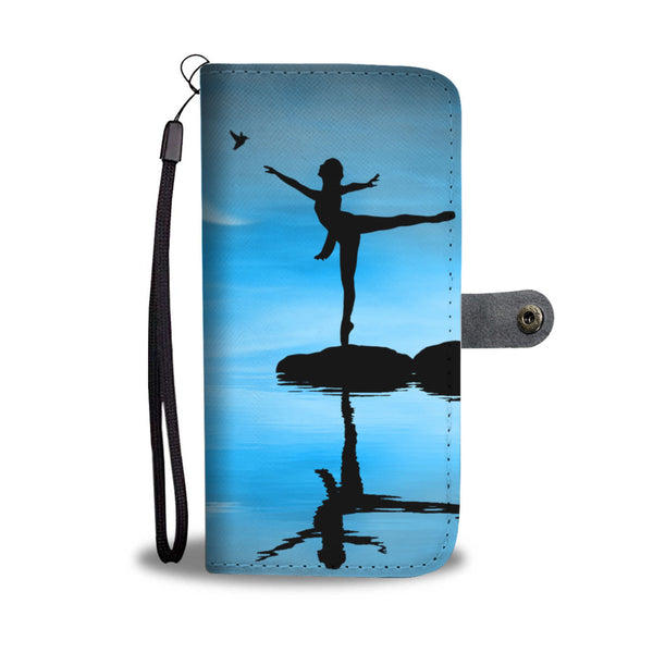 Dancing Girl and a Bird Wallet Phone Case