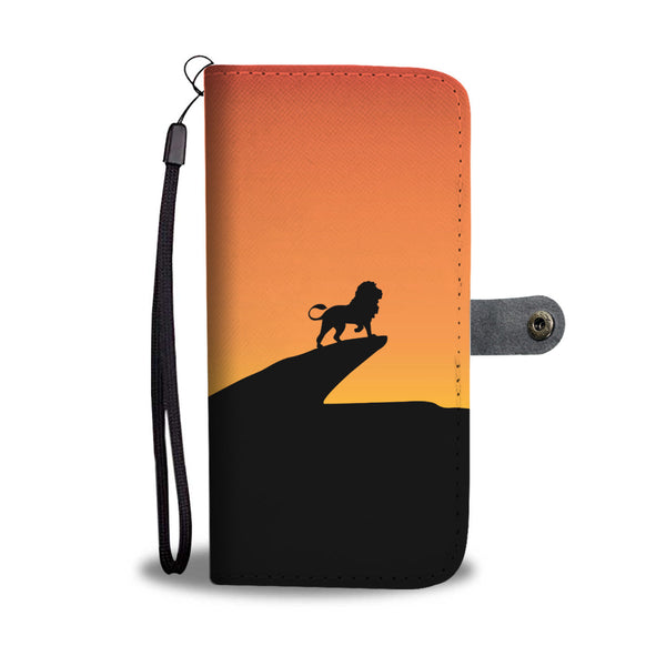 Lion King On the Hill Wallet Phone Case