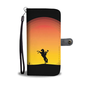 Cowboy on a Horse Wallet Phone Case