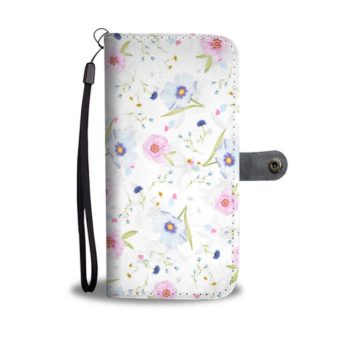 Flowers white Wallet Phone Case